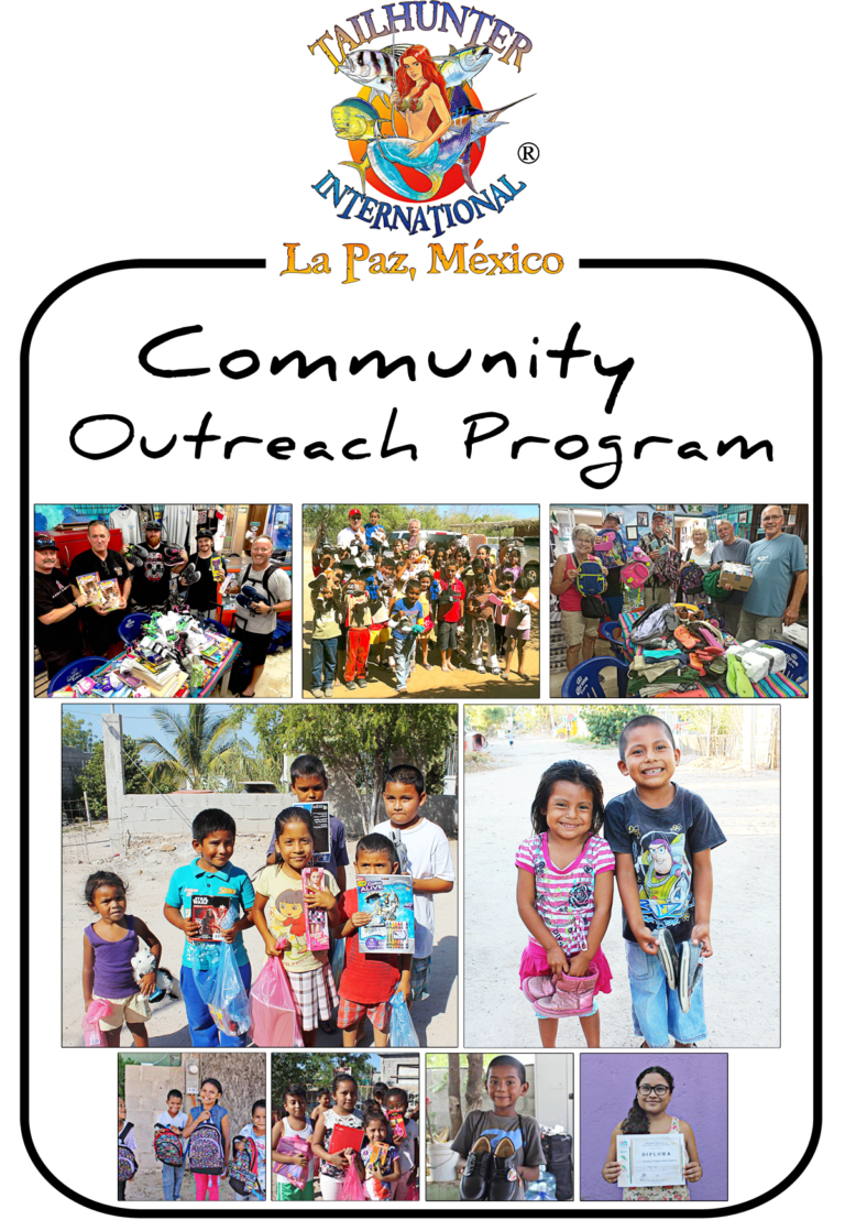 Tailhunter International - Community Outreach Program in La Paz, Baja Sur ... Donations Collected: School Supplies and Clothing for the Children of La Paz