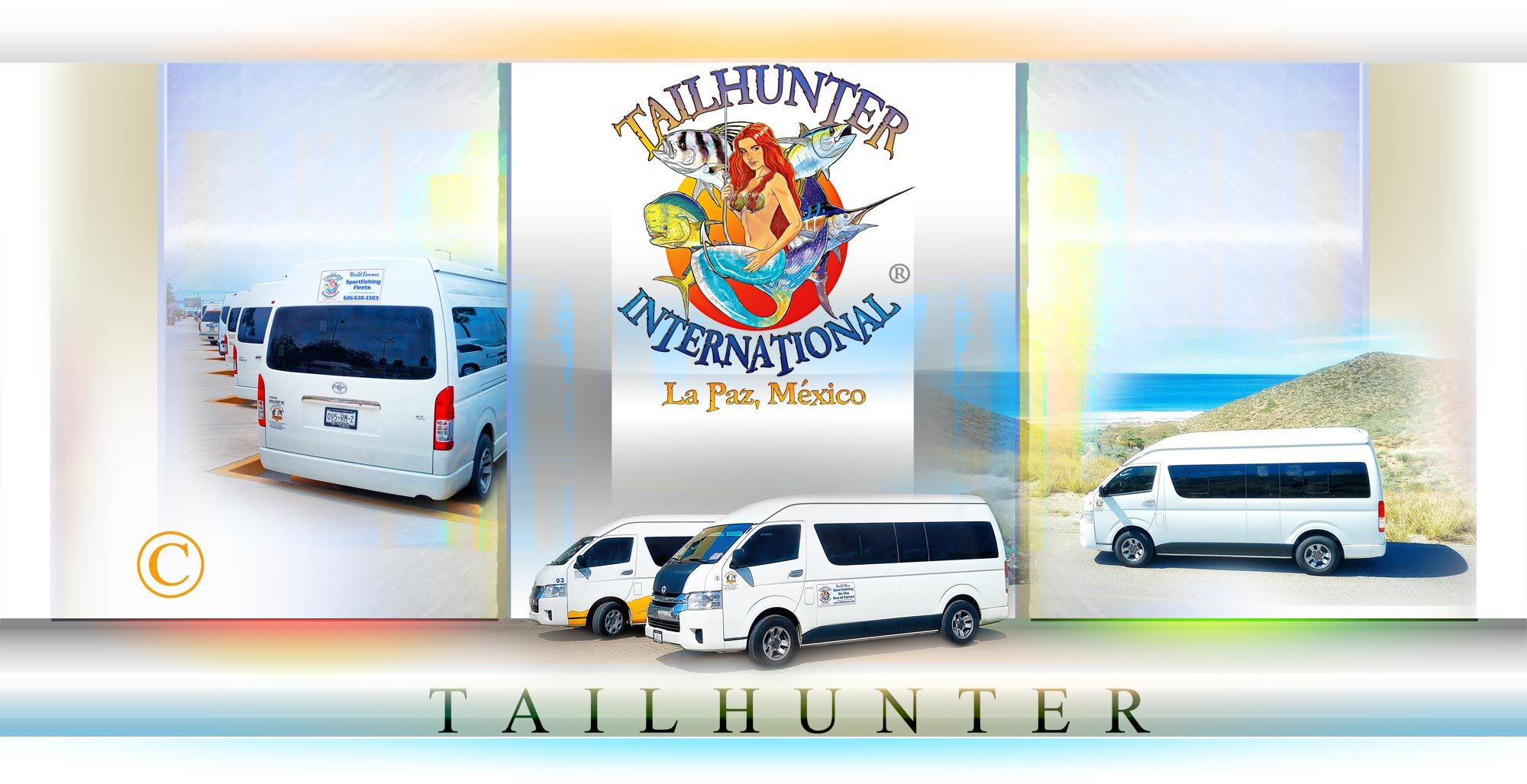 "Tailhunter Tecolote Ground Transportation Fleet ... ""We Have You Covered From The Moment You Arrive."" ...Ground Transportation Services in La Paz - BAJA SUR Mexico - Sea of Cortez Sportfishing Packages."